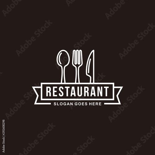 Obraz na plátně  Restaurant logo vector