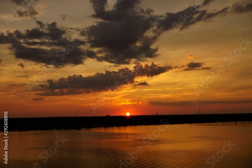 sunset on lake, sunset, water, sky, sunrise, lake, sun, landscape, sea, clouds, nature, river, reflection, dusk, beautiful, summer, horizon, sundown, calm, light, seascape, view, beautiful