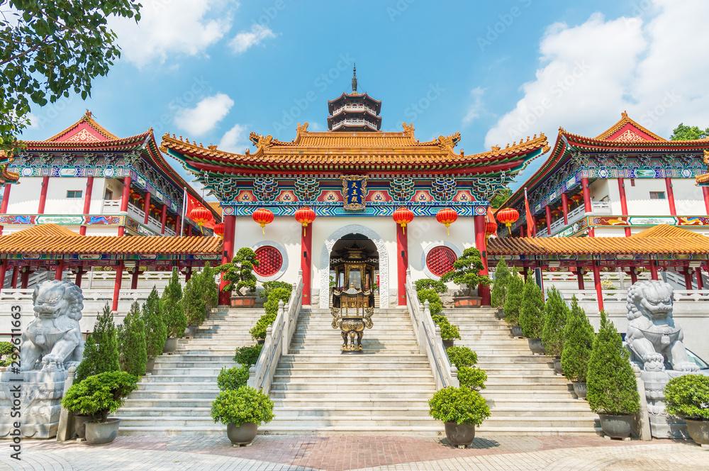 Fototapeta Chinese temple Western Monastery in Hong Kong, China
