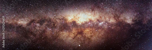 Stars Background, Panoramic Astrophotography of Milky Way Galaxy Wallpaper Mural
