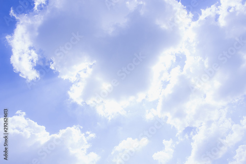 Aluminium Prints Heaven the blue sky and cloud, the blue abstratc background