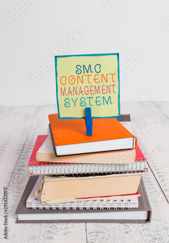 Photo Word writing text Smc Content Management System