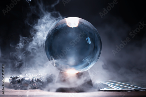 Crystal ball to predict the fate. Guessing for the future. Fototapeta