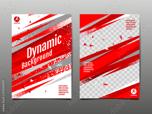 Dynamic  Background,, sport Layout , template Design,  Poster, Brush Abstract, Speed Banner, grunge ,Vector Illustration. - 292636401