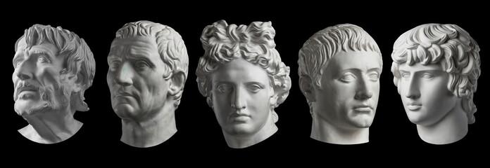 Five gypsum copy of ancient...