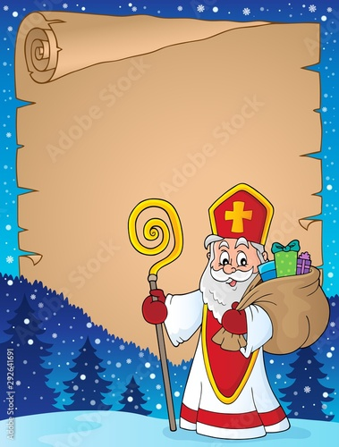 Photo sur Toile Enfants Saint Nicholas topic parchment 7