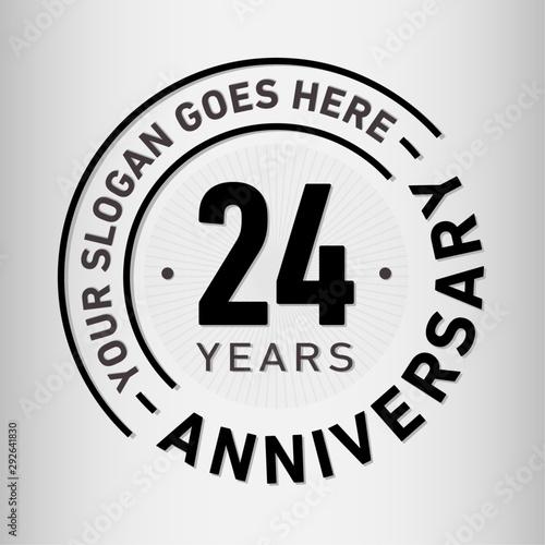 Vászonkép  24 years anniversary logo template