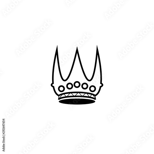 Crown Logo Template vector Wallpaper Mural