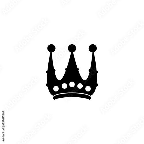 Crown Logo Template vector Canvas Print