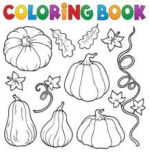 Coloring Book Pumpkins Collection 1
