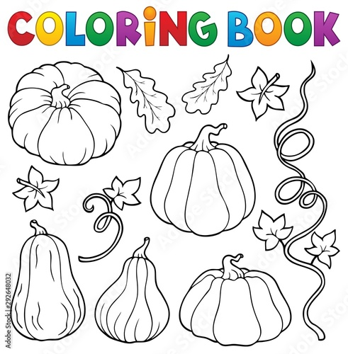 Foto op Canvas Voor kinderen Coloring book pumpkins collection 1