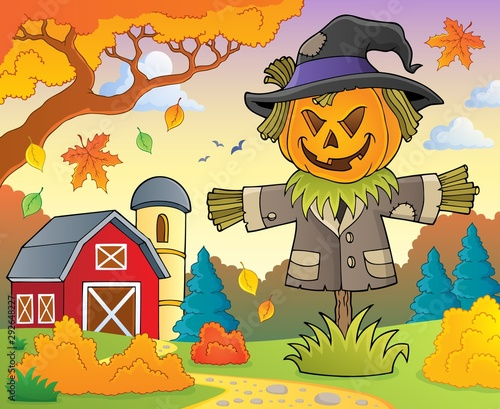 Photo sur Toile Enfants Scarecrow topic image 2
