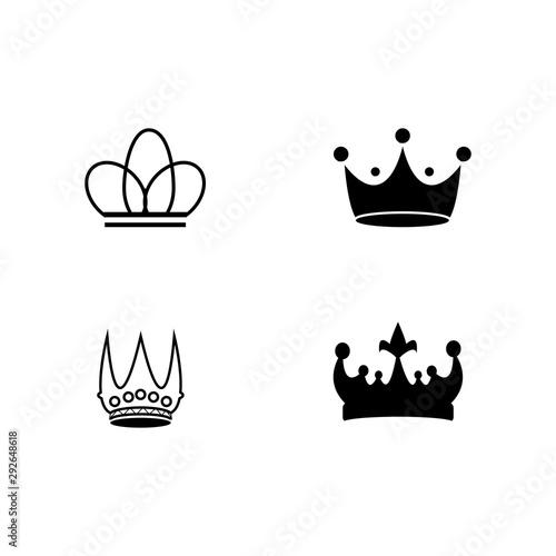 Photo Crown Logo Template vector