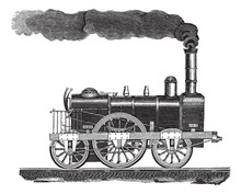 Vintage Engraving Of A High-sp...