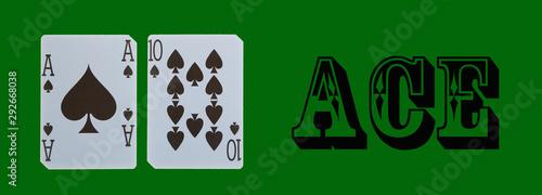 Fotografía  cards ace of spades