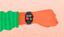 Smart Watch On The Hand. A Device To Track User Activity. People And Gadgets