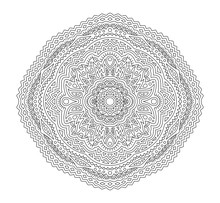 Art For Coloring Book Page With Linear Pattern