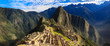 Leinwanddruck Bild - Morning View of Machu Picchu (UNESCO World Heritage)