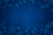 canvas print picture - Blue Christmas background with snowflakes
