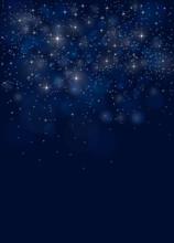 Blue Christmas Night Sky Backg...