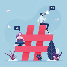 Group Of People With Hashtag I...