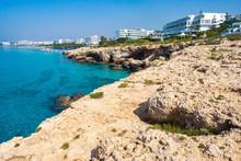 Cyprus. Rocky Coastline Of The...