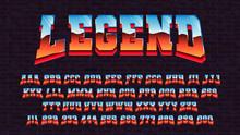 Retro Futuristic Latin Font, V...