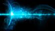 tecnologia futurista, futuro, informatica, sfondo nero