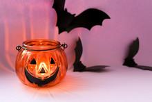 Happy Halloween Pumpkin Candle...