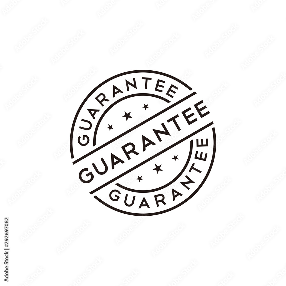 Fototapety, obrazy: Guarantee stamp vector