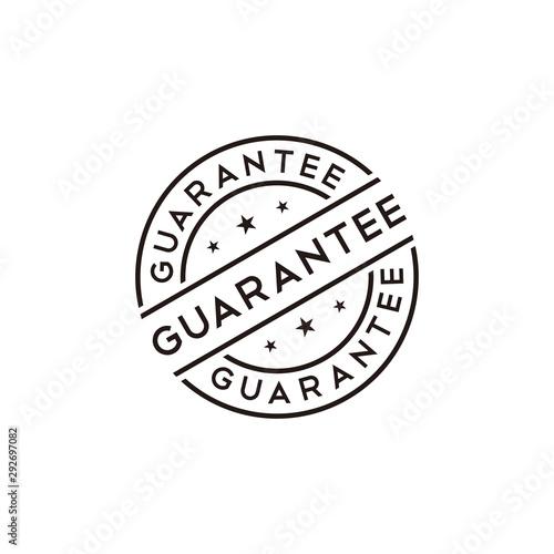 Canvas-taulu Guarantee stamp vector