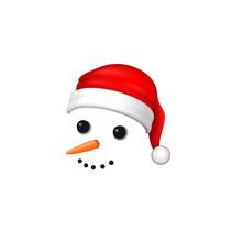 Snowman Face 3D. Realistic Sno...