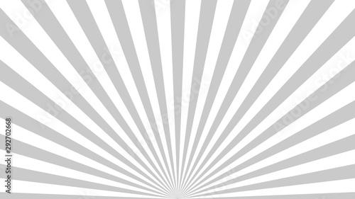 Gray background superhero. Super hero cartoon gradient texture. Sun rays burst. Radiate sun beam, burst effect retro. Sunbeam light flash boom. Template sunlight starburst poster. Vector illustration - 292702668