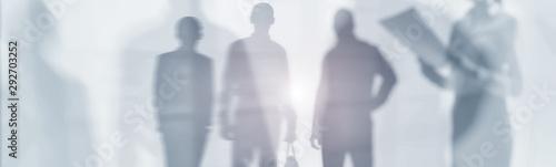 Fototapeta Double Exposure Business Abstract Image. Website Header Banner. obraz