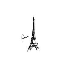 Hand-drawn Eiffel Tower. Sketch, Vector