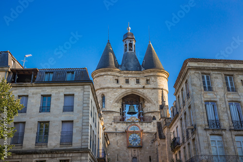 La Grosse Cloche, the second remaining gate of the Medieval walls of Bordeaux, f Canvas Print