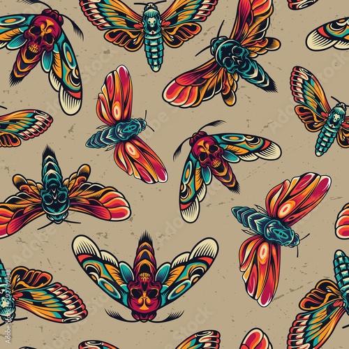Tapety Retro  tatuaze-kolorowy-wzor-bez-szwu