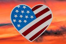 Heart Shape Usa Flag Isolated ...
