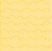 Vector Seamless Pattern With White And Yellow Waves. Stripes With Waves Texture. Noodle And Pasta Abstract Background