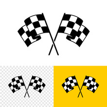 Checkered Race Flags Crossed. ...