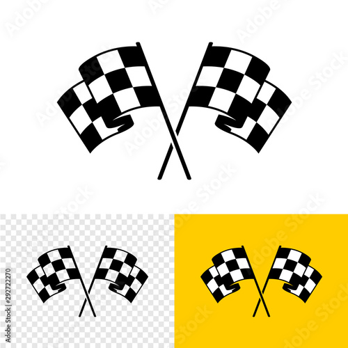 Photo Checkered race flags crossed