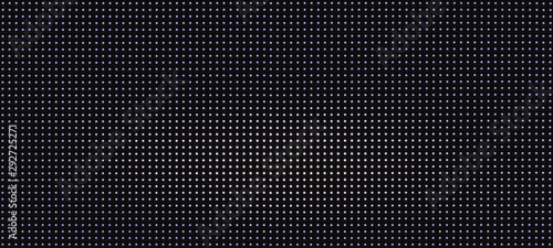 Photo  background pattern luminous blue and white led dots lights on black background