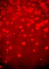 Red Hearts Abstract Background...