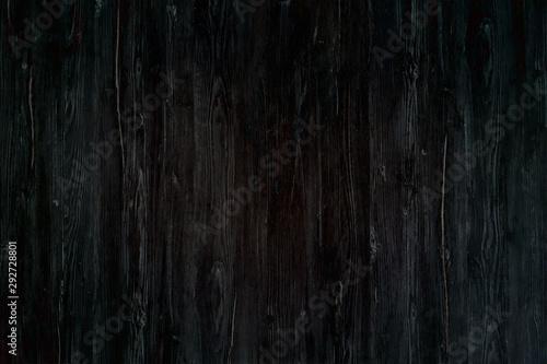 wood black background, dark wooden abstract texture Canvas Print