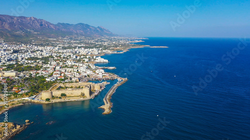 Foto op Aluminium Cyprus Kyrenia (Girne) is a city on the north coast of Cyprus, known for its cobblestoned old town and horseshoe-shaped harbor.