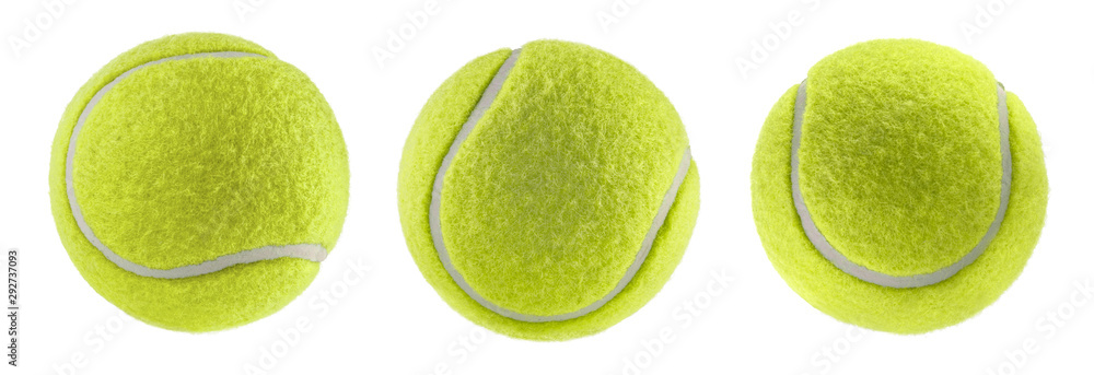 Fototapety, obrazy: tennis ball isolated white background - photography