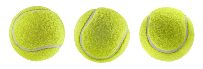 tennis ball isolated white background - photography