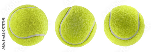 Obraz tennis ball isolated white background - photography - fototapety do salonu