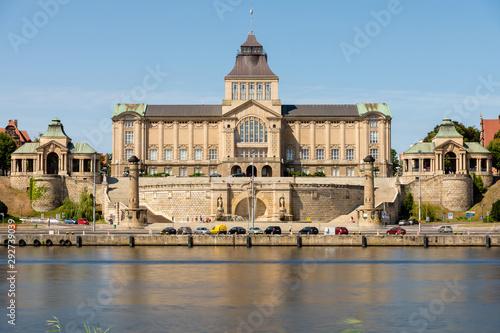Obraz National Museum in Szczecin. During the day - fototapety do salonu