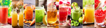 Collage Of Various Fresh Juice